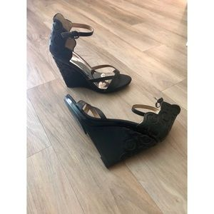Shoes - Leather Wedge Sandal